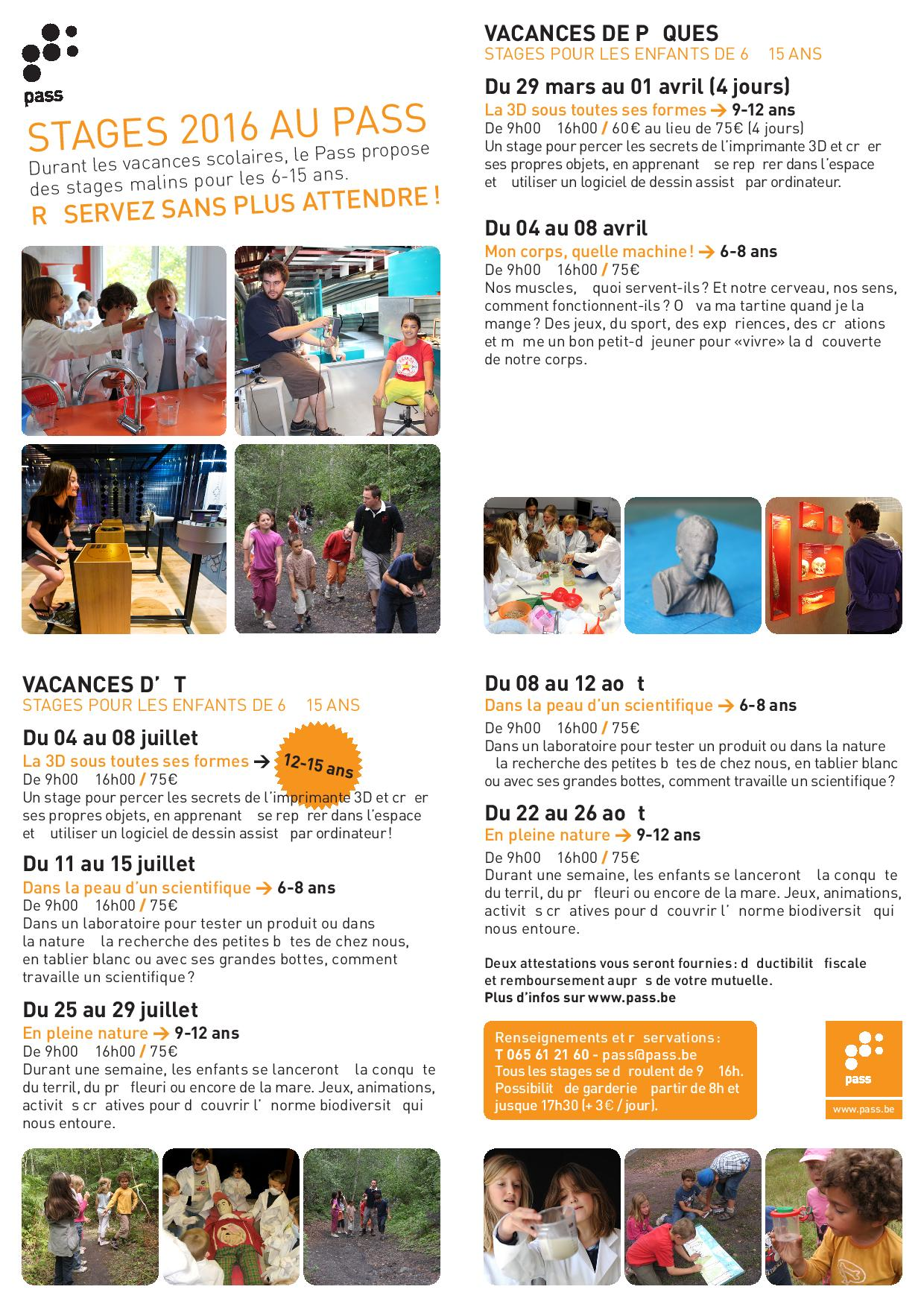 FLYER STAGES VACANCES SCOL 2016 WEB page 001